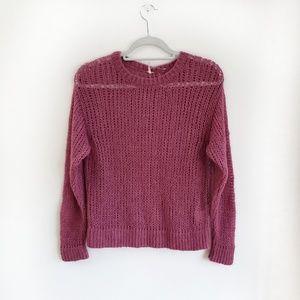 NWOT Free People Wool Alpaca Sweater in Burgundy